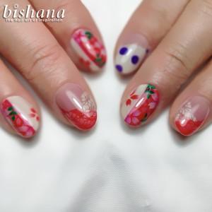 フラメンコ衣装水玉桜