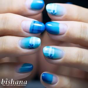 春色チェック・ブルー2