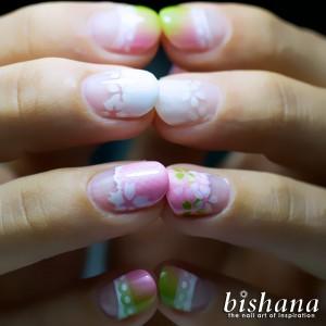 桜☆メッシュフレンチ・グリーンプラス