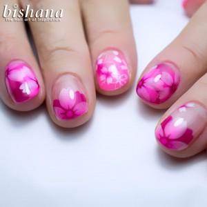 蛍光ピンク桜1