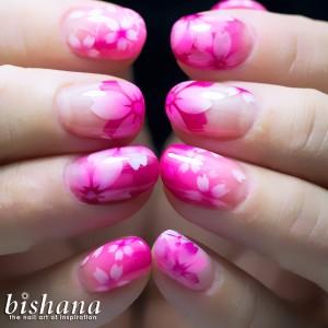 蛍光ピンク桜2