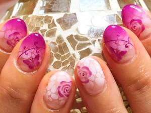 タイル模様-桜