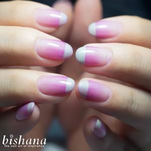 ラインフレンチ・ピンクグレージュ1