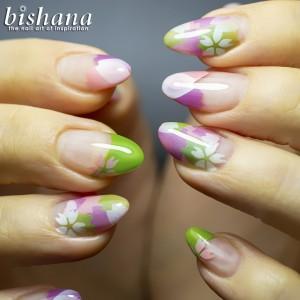 花びら☆ひらり・緑茶色2