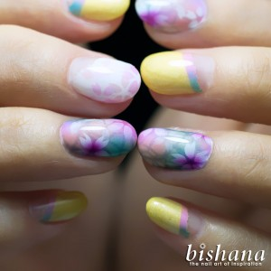 金屏風☆桜パステル